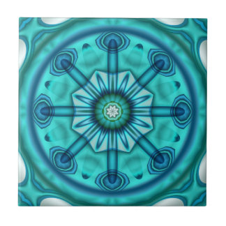 Playful Teal Blue Green Geometric Bathroom Tile