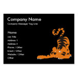 Playful Tiger Large Business Cards (Pack Of 100)
