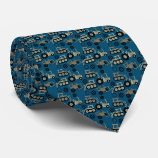 Playful Tiny Toy Tractors Neck Tie