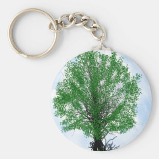 Playful tree blue sky drawing computer graphic keychains