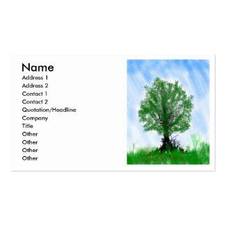 Playful tree blue sky drawing computer graphic business cards