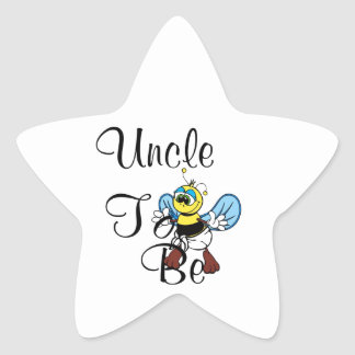 Playful Uncle To Be Star Sticker