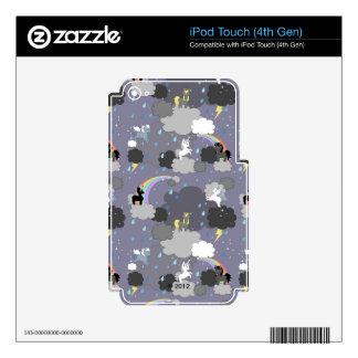 Playful Unicorns in the Rain iPod Touch 4G Skin