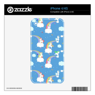 Playful Unicorns iPhone Skin Skins For The iPhone 4S