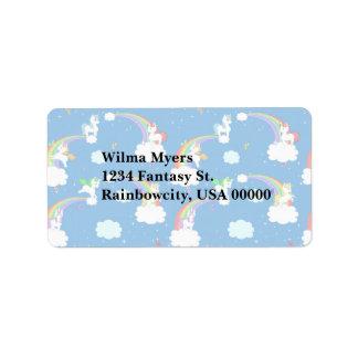 Playful Unicorns Custom Address Label