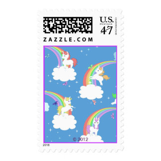 Playful Unicorns Postage