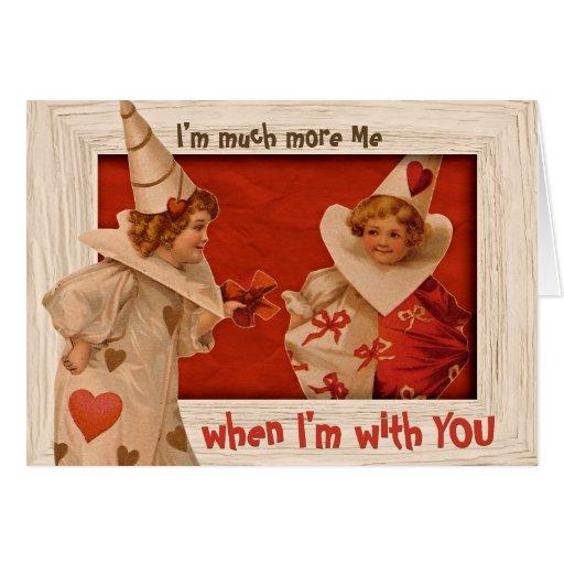 Playful Vintage Pierrot CC0660 Valentine Card