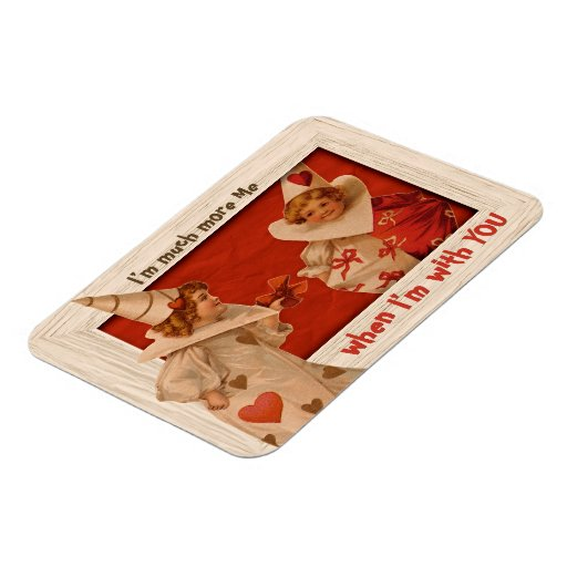 Playful Vintage Pierrot CC0661 Valentine Magnet