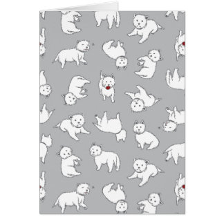 Playful Westies Greeting Card