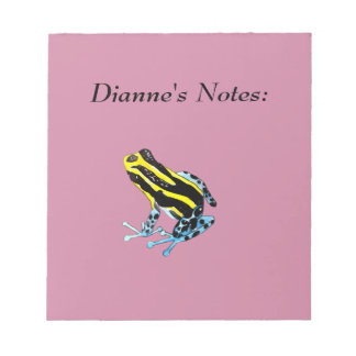 Playfully Adorable Colorful  Watercolor Frog Notepad
