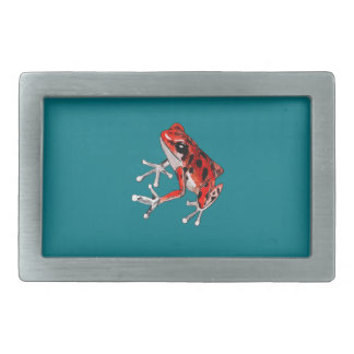 Playfully Beautiful Red Frog Belt Buckle
