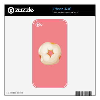 Playfully Delicious Mouth Watering Donut iPhone 4 Decal