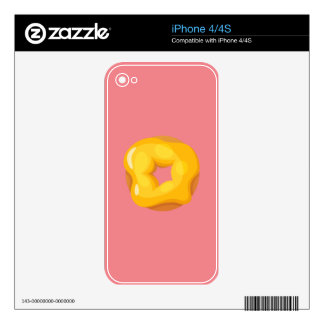 Playfully Delicious Mouth Watering Donut iPhone 4 Decals