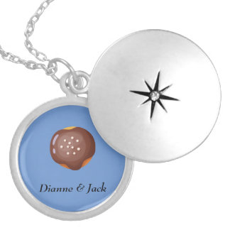 Playfully Delicious Mouth Watering Donut Silver Plated Necklace