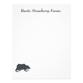 Playfully Elegant Hand Drawn Grey Actionable Bear Letterhead