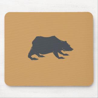 Playfully Elegant Hand Drawn Grey Actionable Bear Mouse Pad