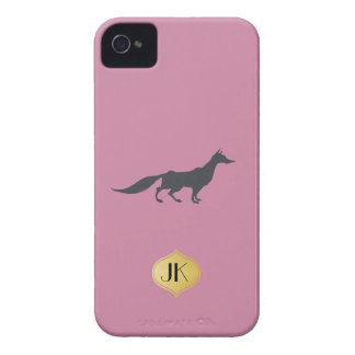 Playfully Elegant Hand Drawn Grey Fox iPhone 4 Case