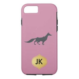 Playfully Elegant Hand Drawn Grey Fox iPhone 7 Case