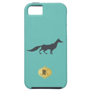 Playfully Elegant Hand Drawn Grey Fox iPhone SE/5/5s Case