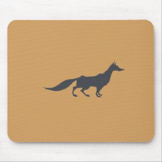 Playfully Elegant Hand Drawn Grey Fox Mouse Pad