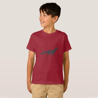 Playfully Elegant Hand Drawn Grey Fox T-Shirt