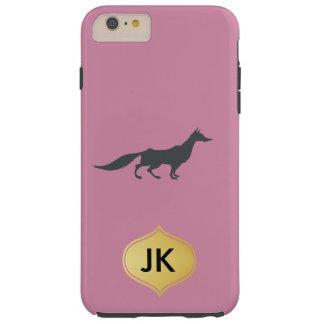 Playfully Elegant Hand Drawn Grey Fox Tough iPhone 6 Plus Case