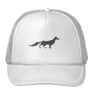 Playfully Elegant Hand Drawn Grey Fox Trucker Hat