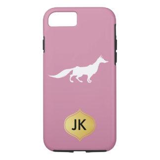 Playfully Elegant Hand Drawn White Fox iPhone 7 Case