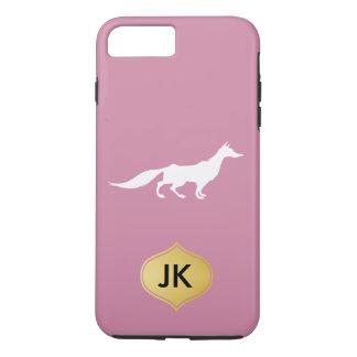 Playfully Elegant Hand Drawn White Fox iPhone 7 Plus Case