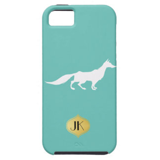 Playfully Elegant Hand Drawn White Fox iPhone SE/5/5s Case