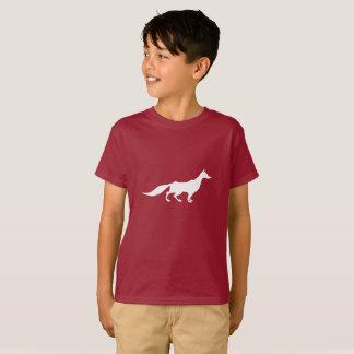 Playfully Elegant Hand Drawn White Fox T-Shirt