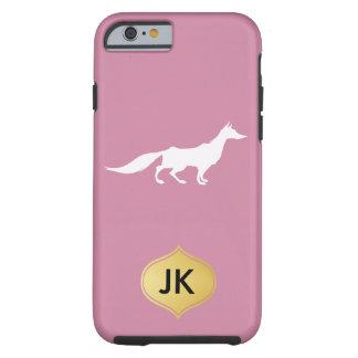 Playfully Elegant Hand Drawn White Fox Tough iPhone 6 Case