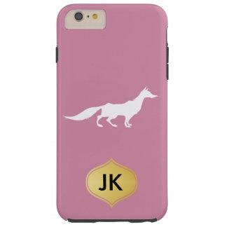 Playfully Elegant Hand Drawn White Fox Tough iPhone 6 Plus Case