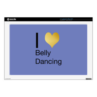 "Playfully Elegant I Heart Belly Dancing 17"" Laptop Decal"