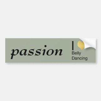 Playfully Elegant I Heart Belly Dancing Bumper Sticker