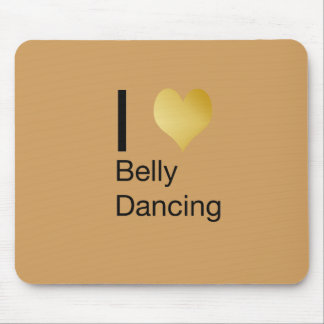 Playfully Elegant I Heart Belly Dancing Mouse Pad