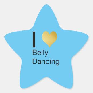 Playfully Elegant I Heart Belly Dancing Star Sticker