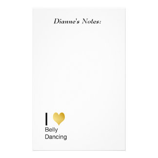 Playfully Elegant I Heart Belly Dancing Stationery