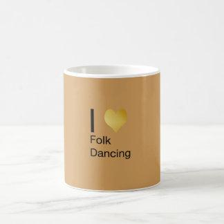 Playfully Elegant I Heart Folk Dancing Coffee Mug