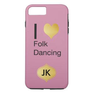 Playfully Elegant I Heart Folk Dancing iPhone 7 Plus Case