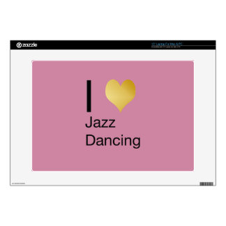 Playfully Elegant I Heart Jazz Dancing Decals For Laptops
