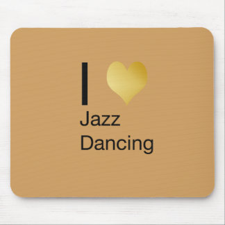 Playfully Elegant I Heart Jazz Dancing Mouse Pad