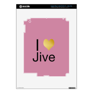 Playfully Elegant I Heart Jive iPad 3 Decals