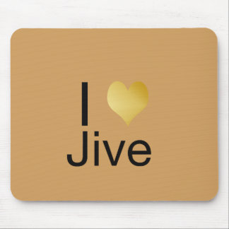 Playfully Elegant I Heart Jive Mouse Pad