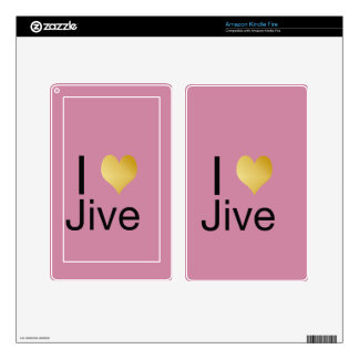 Playfully Elegant I Heart Jive Skins For Kindle Fire