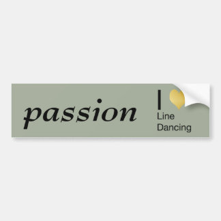 Playfully Elegant I Heart Line Dancing Bumper Sticker