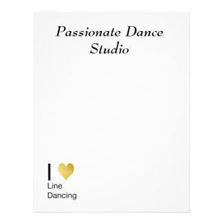 Playfully Elegant I Heart Line Dancing Letterhead
