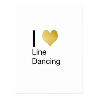 Playfully Elegant I Heart Line Dancing Postcard