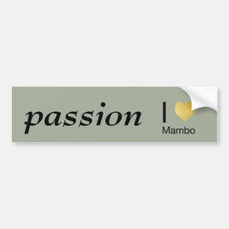 Playfully Elegant I Heart Mambo Bumper Sticker