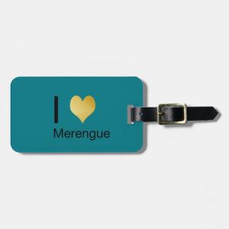 Playfully Elegant I Heart Merengue Luggage Tag